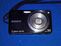 Sony Cyber-shot DSC-W350 14.1MP Digital Camera - Black/ MINT CONDITION + 8GB SD
