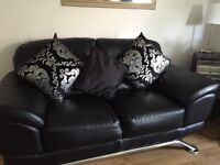 Black leather sofas for sale