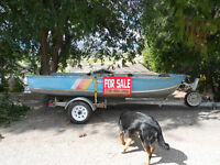 12' Aluminum Princecraft Fishing Boat w/ Trailer