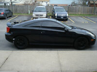 2002 Black Toyota Celica GT in Mint Condition and Low KMS.