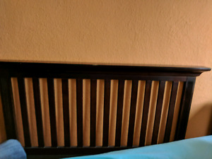 Solid wood baby crib / bed.  Excellent condition.