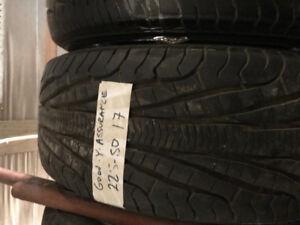 2 pneus excellent 225/50r17
