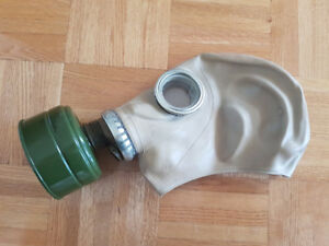 Soviet Russian Military Gas mask GP-5. Grey rubber