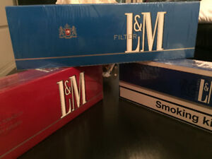 L&M blue and red
