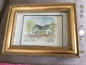 Anne of Green Gables.    Framed picture .price firm 50.00