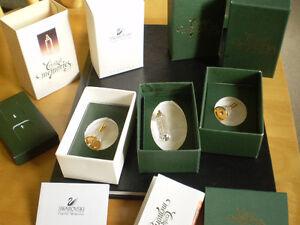 3 - Swarovski Crystal Memories Figurines