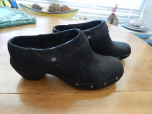 Merrell Luxe Wrap Women's Black Leather Mules Booties 8.5