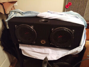 bassworks enclosure Car sub twin big Kenwoods