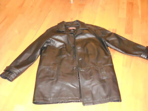 Black Danier Leather Dress Jacket with Zipped Liner