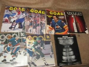 1970's Huge NHL AHL program collection and book collection