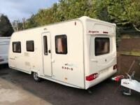 2007 Avondale Argente 530 5 Berth caravan Light to tow, Awning, Bargain !