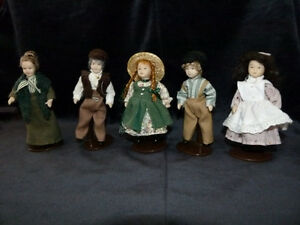Anne of Green Gables Mini Doll Collection (all porcelain)
