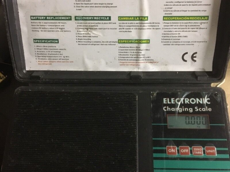 Electronic Scales - Refrigerant Scales - As New
