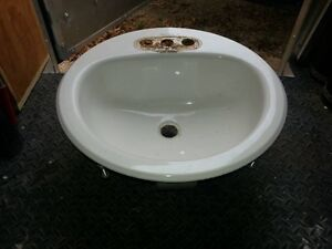 White Bathroom Sink and Tap