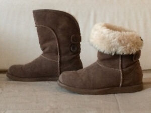 Chaussures d'hiver type UGG avec fourrure