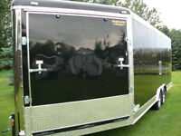 enclosed snowmobile trailer-side by-quad-xhigh-vnose-car hauler