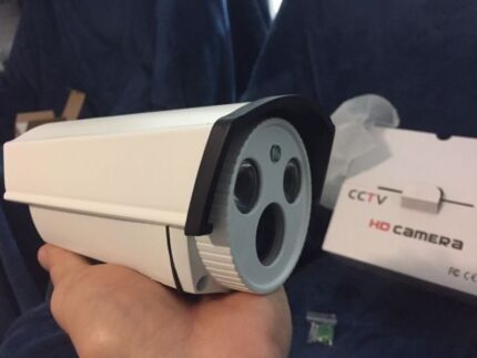 CCTV Camera x8 Surveillance System: Motion, Night, Unit, Cable +