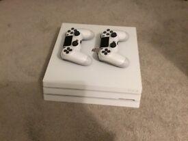PS4 PRO RARE GLACIER WHITE 1TB + 2 Controllers