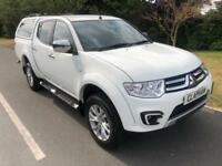 2015 15 MITSUBISHI L200 BARBARIAN 2.5D 4X4 WHITE 1 OWNER ANY UK DELIVERY
