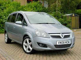 2008 08 Vauxhall Zafira 1.9 CDTI SRI [150] 5DR WITH 7 SEATS + 150 BHP ++