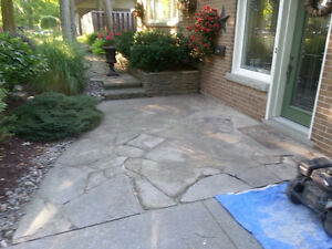 Exposed Aggregate, Stamped Concrete, Flagstone - Sealing London Ontario image 3