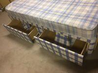Single divan bed, mattress & headboard