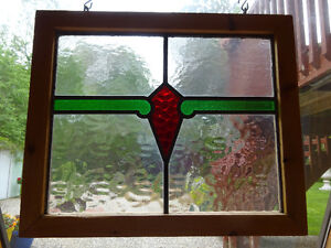 """Antique Stained Glass From England - Circa 1920 - """" As Is """""""