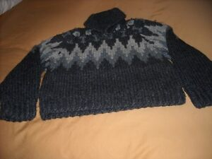 COWICHAN SWEATER--HAND KNIT