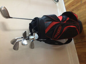 Mens right handed golf clubs with bag