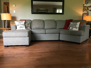 Like New Sectional Couch with Cuddler