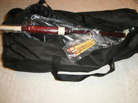HIGHLAND ROSEWOOD BAGPIPES PROFESSIONAL SET BRANDNEW $300