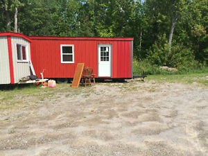 Steel sided trailer, bunkie, hunting camp