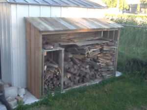 Fire wood shelter