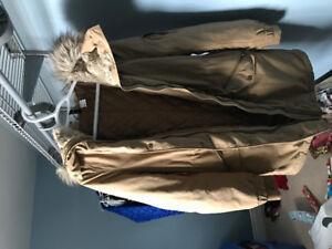 H&m fur trim hood jacket