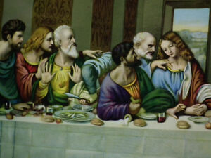 THE LAST SUPPER , GOLD  WOOD FRAME  IMMACULATE . Windsor Region Ontario image 2
