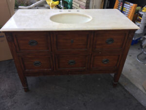 Bathroom Vanity-Antique Style w/natural stone countertop