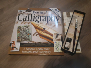 Calligraphy book with pen and ink
