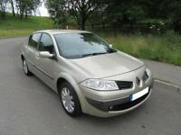 2007 '57' RENAULT MEGANE 1.6VVT AUTOMATIC 4 DOOR SALOON IN MET GOLD ONLY 51,000