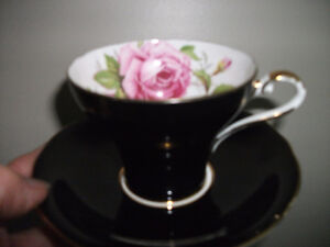 Aynsley cabbage rose cup and saucer
