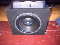 "10"" MTX SUB IN A SEALED ENCLOSURE WITH A PIONEER AMP 4 SALE"