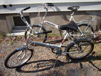 Pair! of Folding Adult  3 Speed Bikes