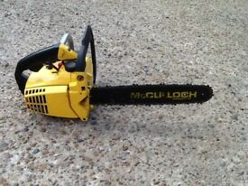"""MCCULLOCH 14"""" TOP HANDLE CHAINSAW"""