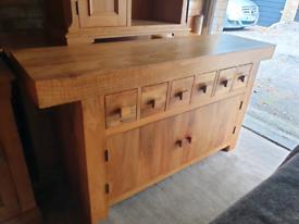 Oak Furniture Land Mantis Solid Mango Large Sideboard