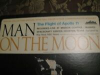 The Flight Of Apollo 11 Book and LP On The Moon MAKE A OFFER