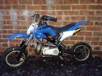 Midi moto dirt bike field bike mini moto not pitbike 50cc twist and go