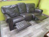 20% OFF SELECTED ITEMS!! Faux Leather 3 Seater Recliner Sofa - Can Deliver For £19