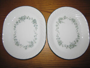 2 BRAND NEW CORELLE PLATTERS / SERVING TRAYS