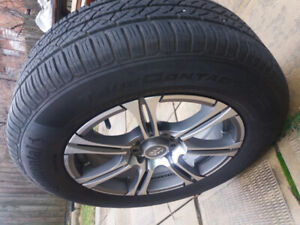 215 65 R16 Summer Tire with rim, free winter mats