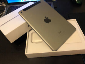 Lightly used, 90% New iPad Mini4 128GB Wifi+Cellular
