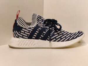 "Adidas NMD R2 PrimeKnit Boost Navy/White ""Roni"" Size 10.5"
